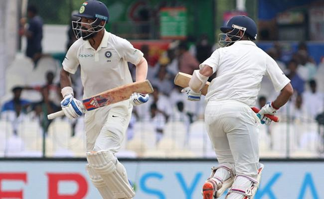 India Completed Hundred Runs In Fifth Test - Sakshi