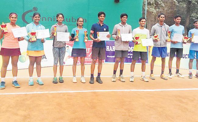 Aditi Double Dhamaka in AITA Championship - Sakshi