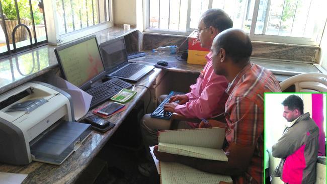 ACB officers raid on PENUNDA RTO Checkpost - Sakshi