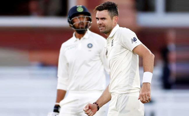 James Anderson Has Been Fined 15 Percent of His Match Fee - Sakshi