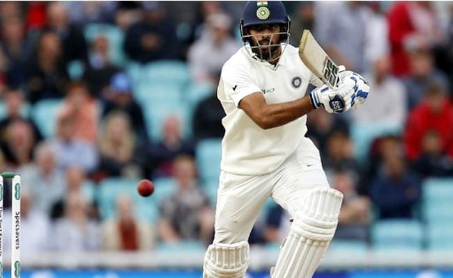 Hanuma Vihari Becomes Third Indian to score 50 on Test debut At England - Sakshi