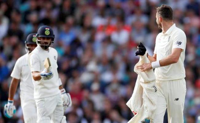 Virat Kohli, James Anderson involved in heated exchange during Oval Test - Sakshi