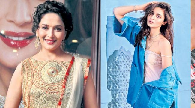 Alia Bhatt and Madhuri Dixit to perform a grand Kathak - Sakshi