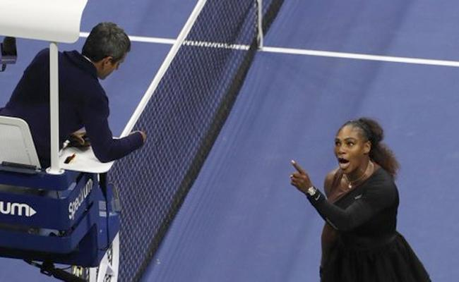 Serena Williams calls umpire a liar and thief - Sakshi