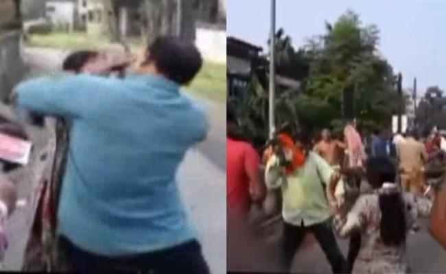 Trinamool Leaders Attacks On Woman BJP Leader - Sakshi