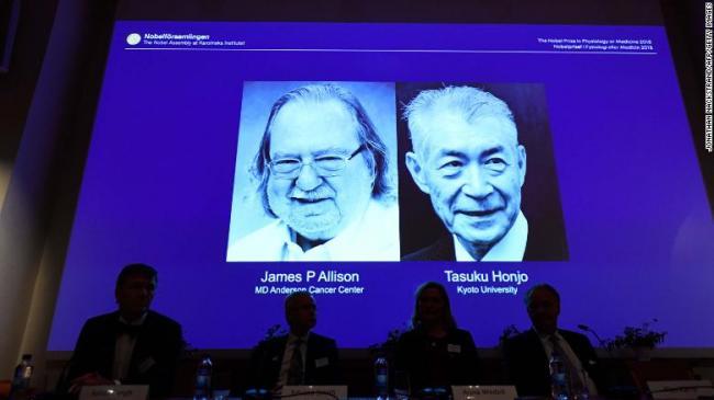 James Allison and Tasuku Honjo win Nobel Prize in Medicine - Sakshi