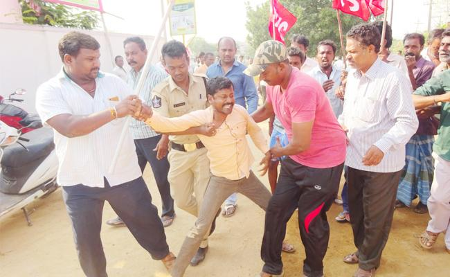 municipal Workers Strike In PSR Nellore - Sakshi