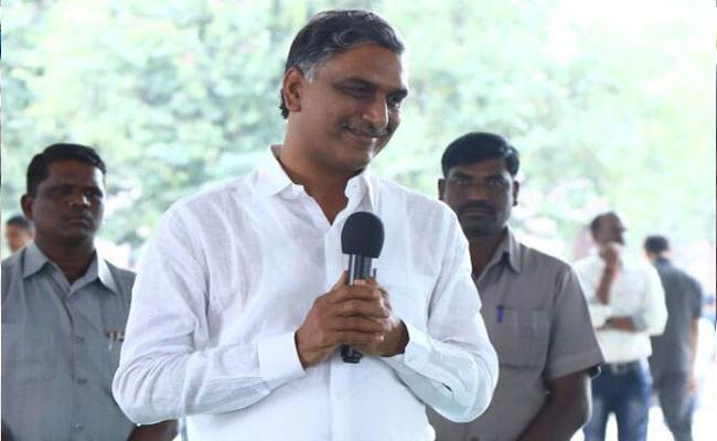 TRS Leader Harish Rao Slams Congres In Sanga Reddy - Sakshi