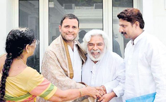 Gaddar Meet Rahul Gandhi And Sonia Gandhi In New Delhi - Sakshi