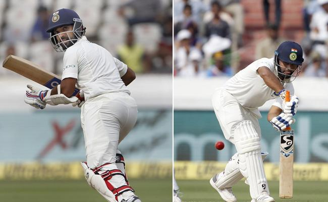 Rahane, Pant Make Fifties as India narrow deficit - Sakshi