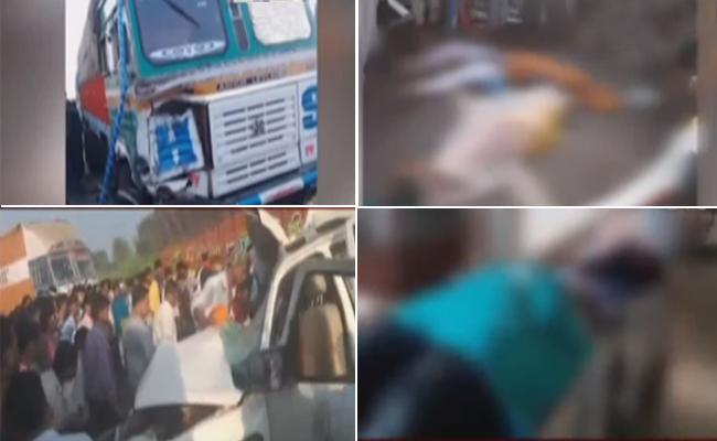 Nine Dead In Road Accident In Chhattisgarh - Sakshi