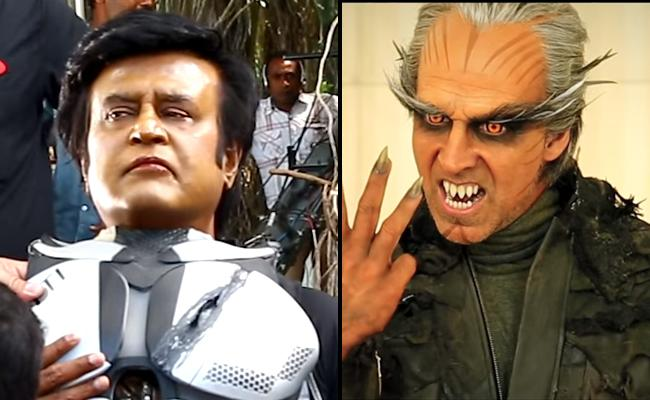 Rajinikanth Shankar 2pointO 4th Making Video - Sakshi