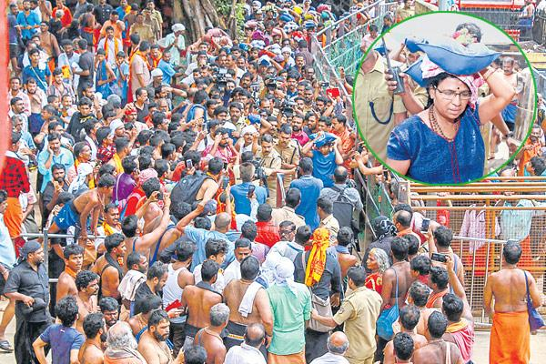 Woman, 52, allowed inside Sabarimala temple after initial protests - Sakshi