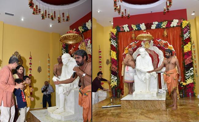 Sai Centennial Mahasamadhi Celebrations In Chicago Sai Baba Mandir - Sakshi