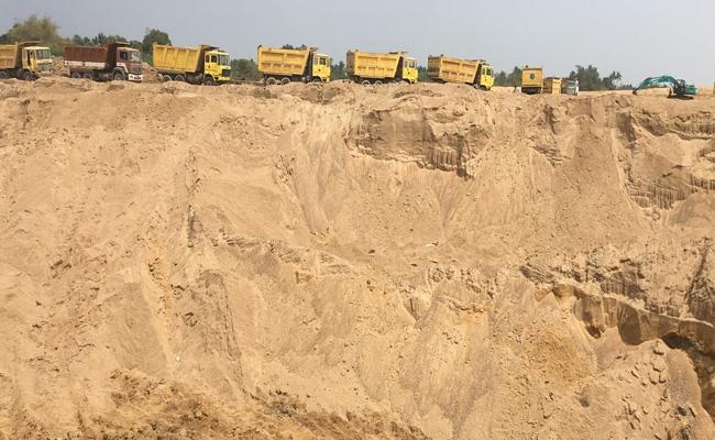 IT Raids On Sand Mining Companies In Andhra Tamilnadu Border - Sakshi