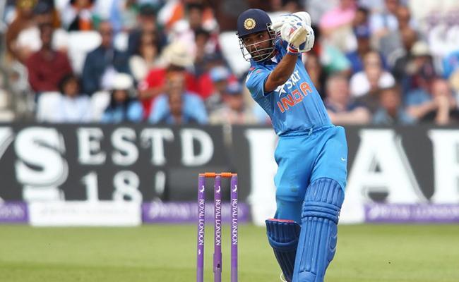 Ajinkya Rahane gets Big Century in Deodhar Trophy Final - Sakshi