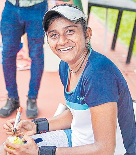 Pranjala Yadlapalli enters main draw - Sakshi