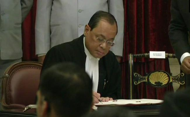 Justice Ranjan Gogoi Takes Oath As The Chief Justice of India - Sakshi