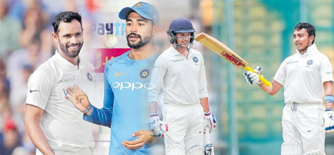 Mayank, Prithvi, Siraj ,hanuma vihari: Form Guide of Team India New Recruits - Sakshi