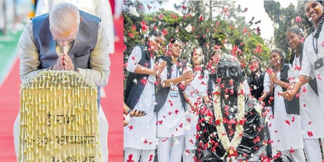 Nation remembers Gandhi as champion of non-violence - Sakshi
