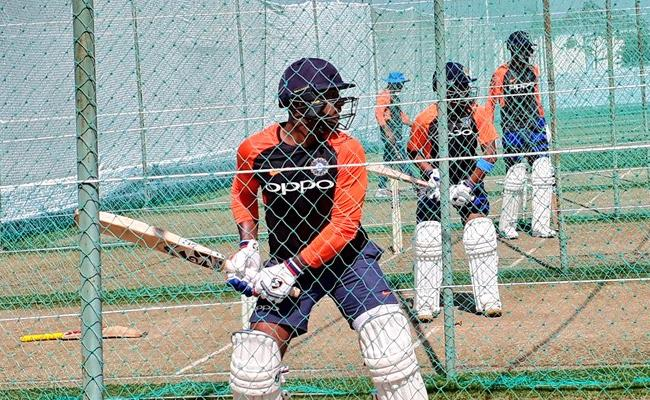 Team India Practice Session Start For Test Against West indies - Sakshi