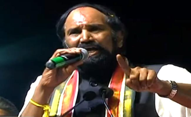 Uttam Kumar Reddy Speech At Gadwal Public Meeting - Sakshi