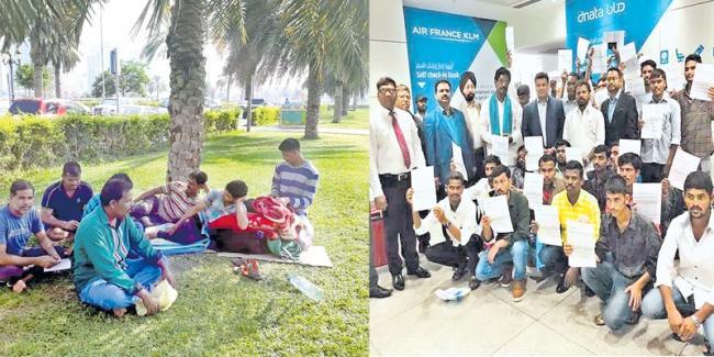 Telangana workers in the Gulf - Sakshi