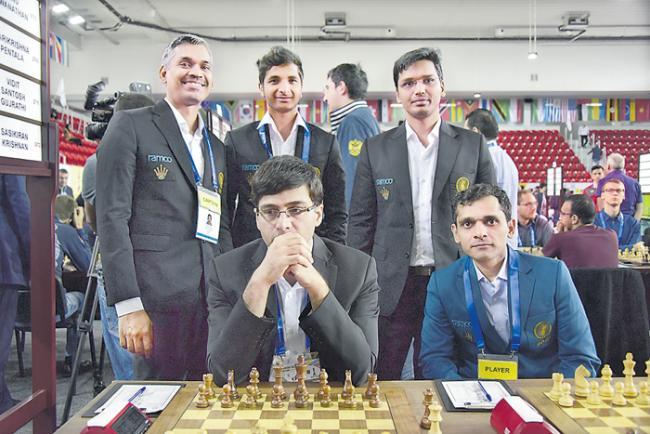 Indian men finish sixth; women eighth in Chess Olympiad - Sakshi