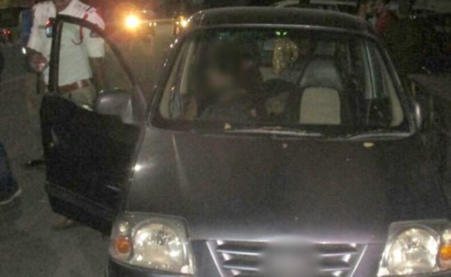Drunken Woman Hulchal In Hyderabad - Sakshi