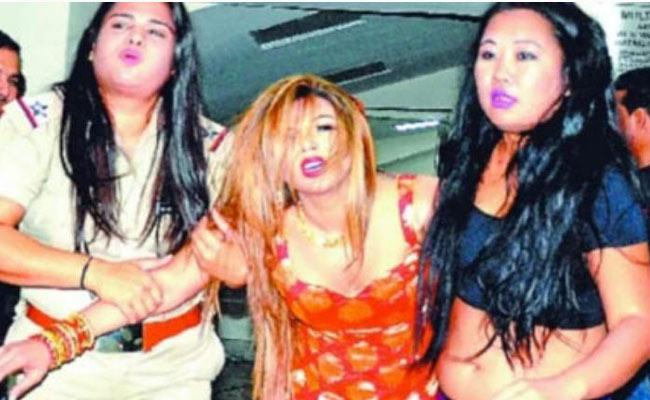 Rakhi Sawant Was Knocked Out In The Ring After She Challenged A Wrestler - Sakshi