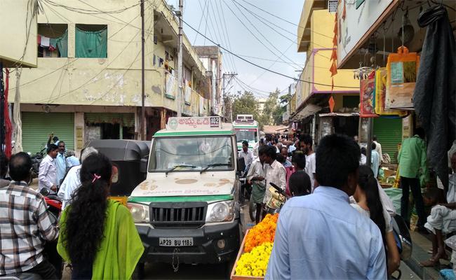 Ambulance Stuck in the Traffic Warnagal - Sakshi