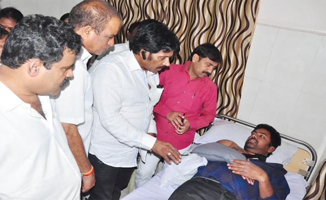 YSRCP Leader Injured In Bike Accident Visakhapatnam - Sakshi