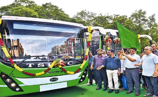 Electric Busses Delayed In Hyderabad Transport - Sakshi