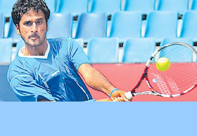 Saket pair in Bangalore open doubles quarterfinals - Sakshi