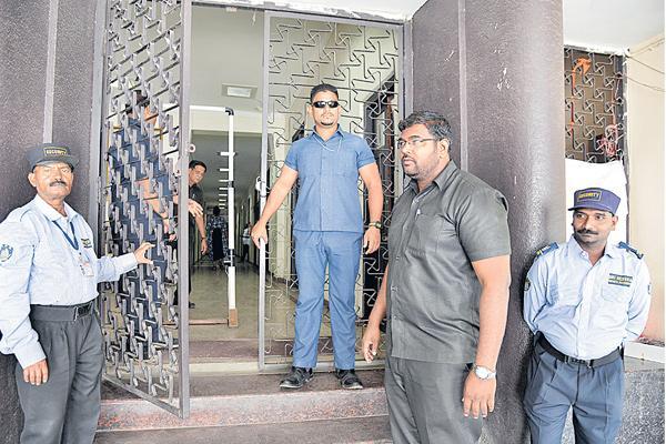 Image result for High Security At Gandhi Bhavan | Telangana Election 2018