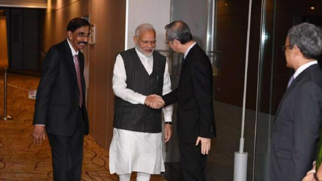 Modi pitches India As Favourite Investment Destination - Sakshi
