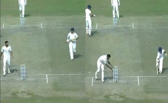 Gautam Gambhir Gets Run Out Like A Kid In Ranji Trophy - Sakshi