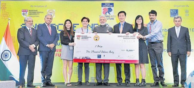 PM Narendra Modi Attends 13th East Asia Summit In Singapore - Sakshi
