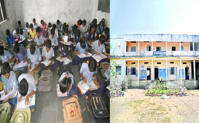 Government School Students Are Facing Problems With Benches - Sakshi