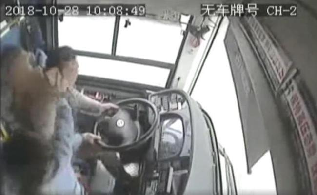 In China Bus Driver Fights With Woman Then Bus Plunges Into River - Sakshi