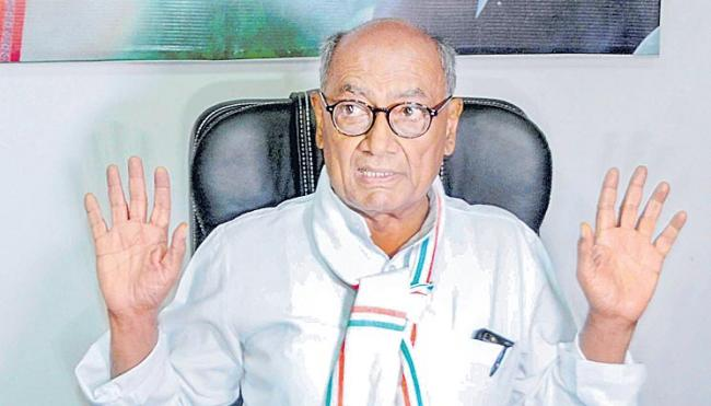 Letter With Digvijaya Singh's Number Found In Elgar Parishad Probe - Sakshi