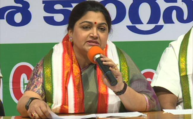 Kushboo Fires on Cm Kcr Over Women Empowerment - Sakshi