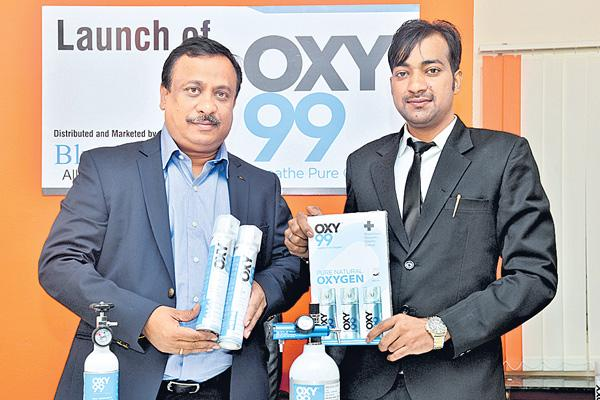 Bluewater Alkaline launches portable oxygen can - Sakshi
