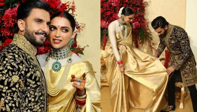 Deepika Padukone Ranveer Singh Reception At Bangalore - Sakshi