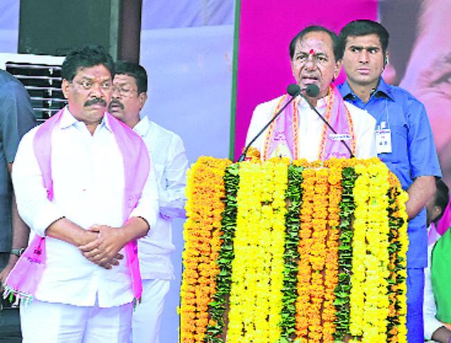 Telangana Adhoc CM KCR Meeting In Nalgonda Constituency - Sakshi