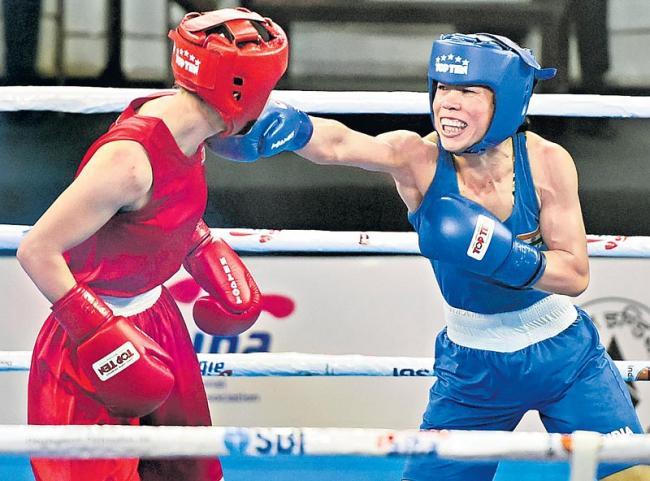 Mary Kom reaches World Boxing Championship final - Sakshi