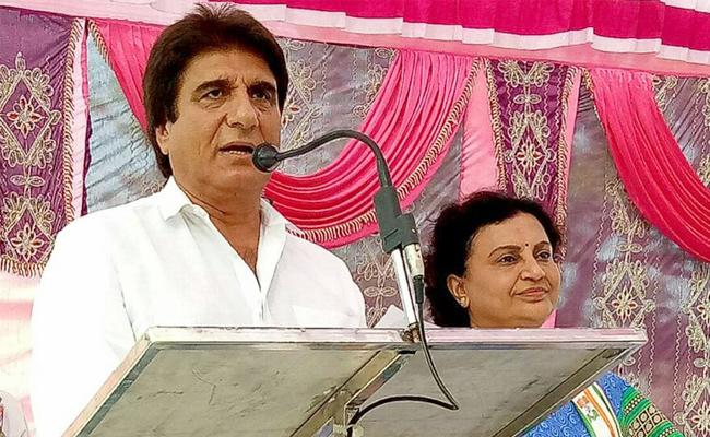 Raj Babbar Compares Rupee Value To Modi Mothers Age - Sakshi