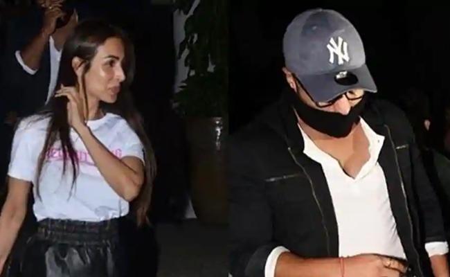 Arjun Kapoor Hides His Face After Partying With Rumoured Girlfriend Malaika Arora - Sakshi