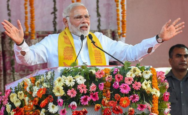 PM Modi Says Congress Dragged My Mother Into Muck Because They Don't Have Strength to Fight Me - Sakshi