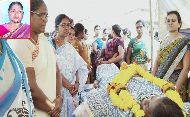 Aasha Worker Died With Heart Stroke - Sakshi